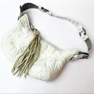 Coach   Vintage Nylon Quilted Signature Mini Hobo Bag